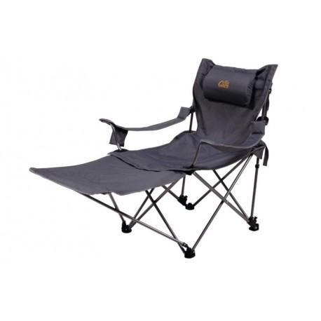 Chaise 2 en 1, pliante avec une extension pour position allongée