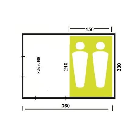 Chambre seule pour tente Oléron
